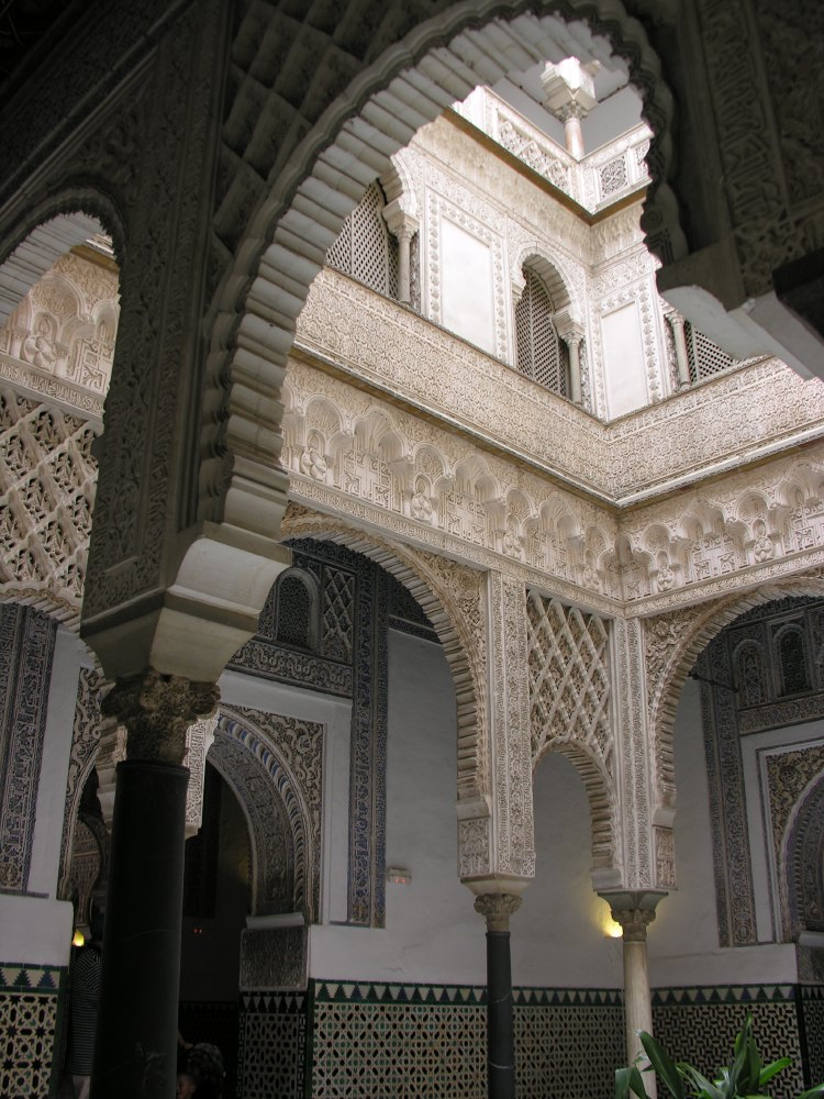The Real Alcázar has developed from the city's old Moorish Palace; construction was begun in 1181 and continued for over 500 years, mainly in Mudéjar style, but also in Renaissance.
