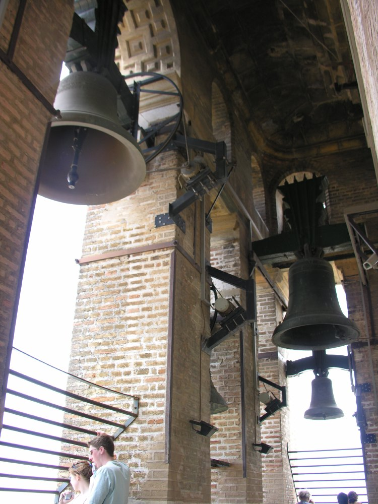 The Giralda, originally a minaret, was converted into a bell tower.