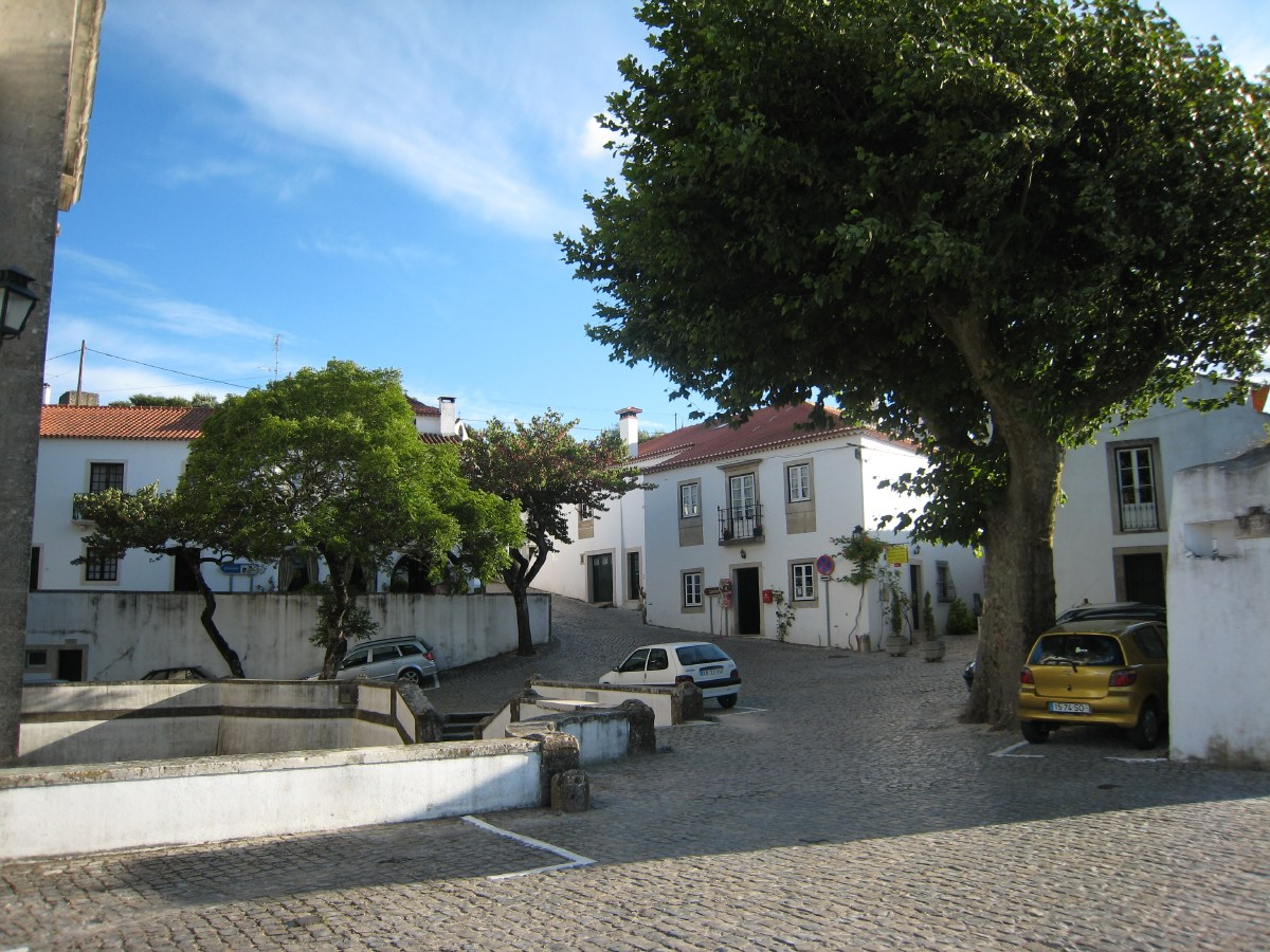 The medieval village square of Ourém.