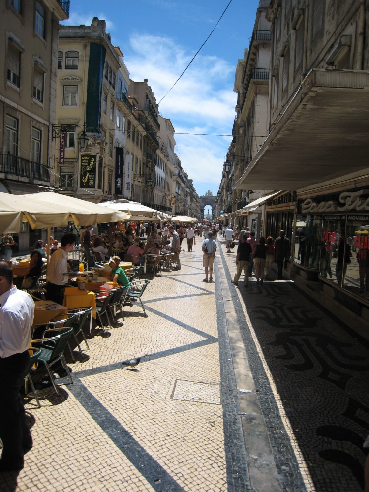 The lower town, with its straight street plan, is partially closed to all traffic and is therefore an excellent shopping area.