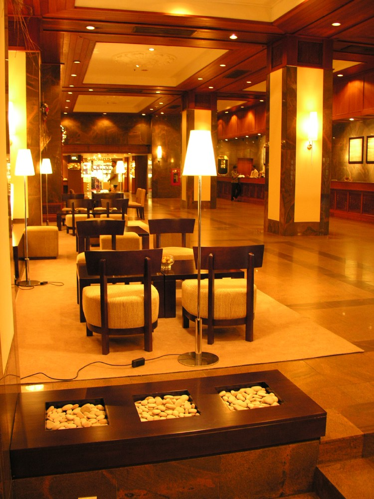 The lobby of TransAsia, our Colombo hotel