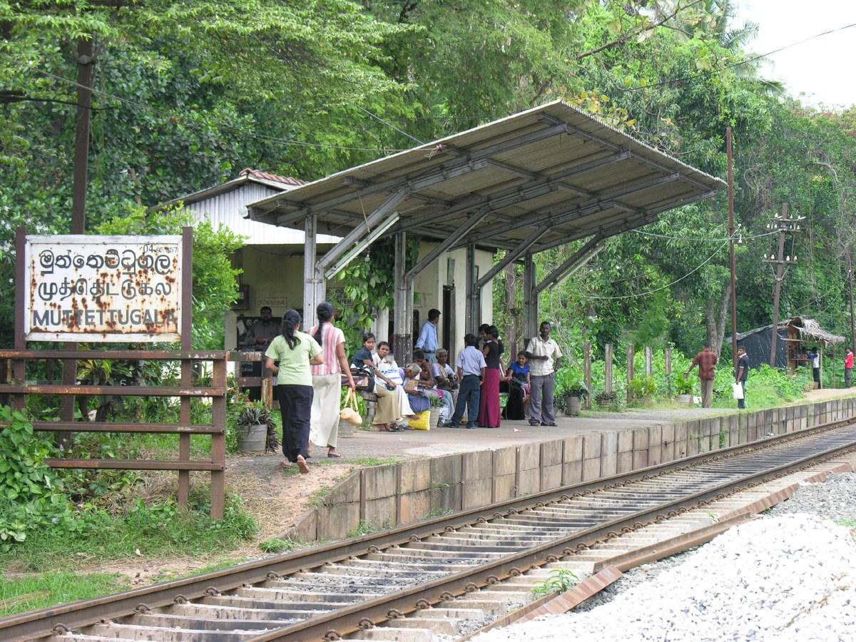 Train station of Muttettugala