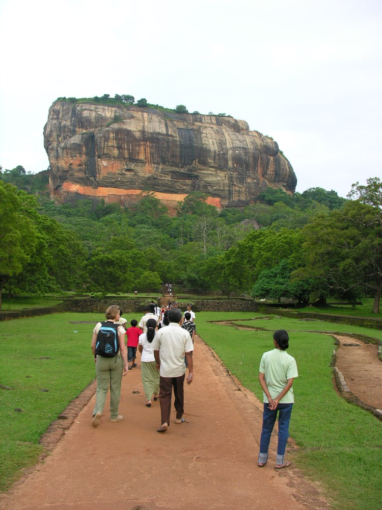 On the top of the Sigiriya Rock are the ruins of an ancient palace complex, built during the reign of King Kasyapa (477 – 495 AD). It is one of the seven World Heritage Sites in Sri Lanka.