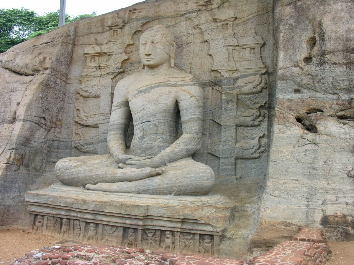 The Gal Viharaya in Polonnaruwa has all three postures of the Buddha carved out of a single rock.