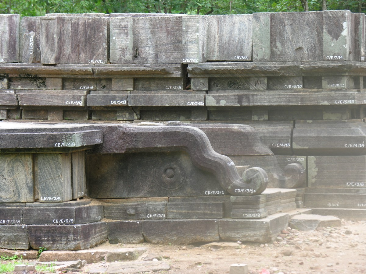 This temple ruin is slowly sinking, probably because other rooms are still underneath this part of the temple.