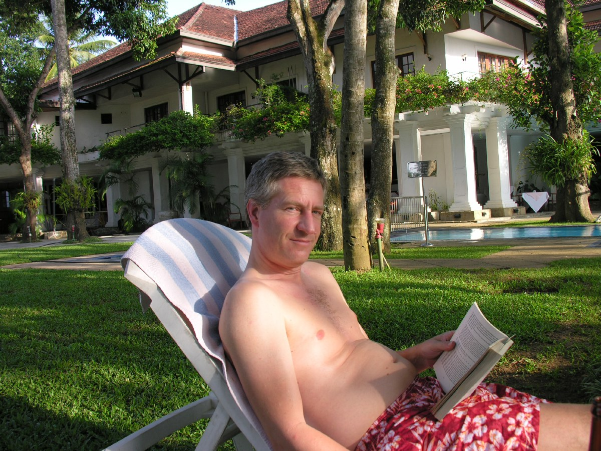Poolside reading