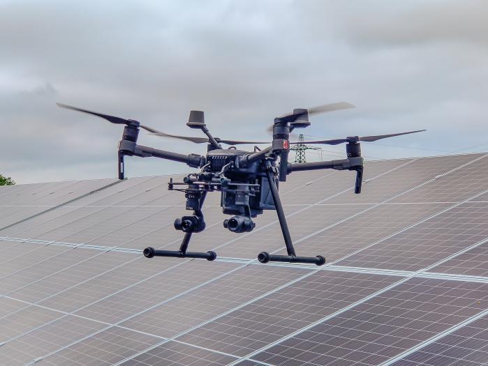 M210 RTK solar inspection solar panels