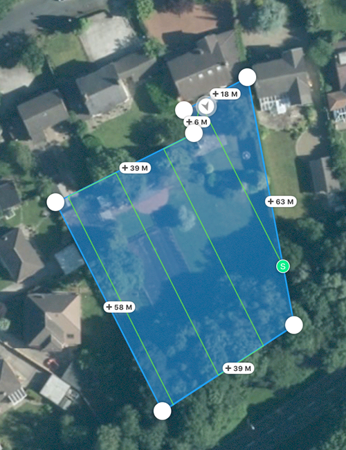 Automated flight plan for drone mapping