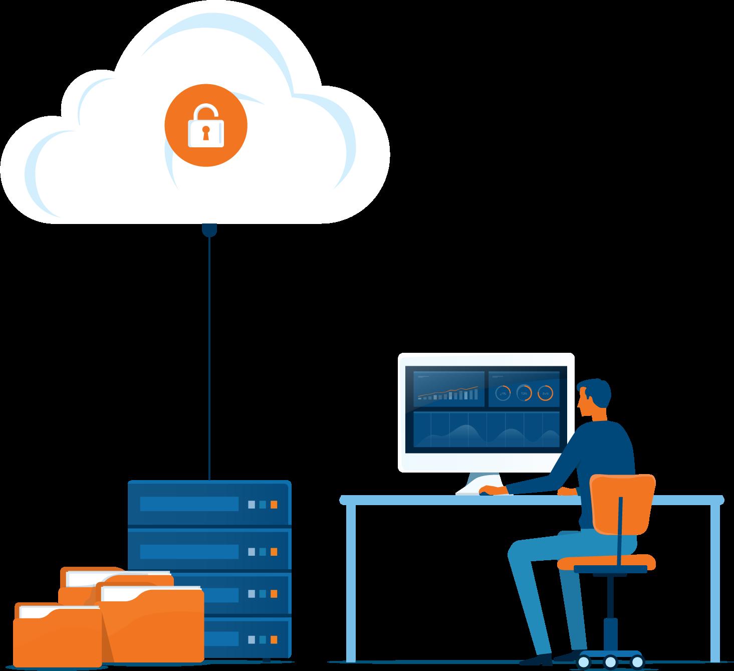 Hosted desktops security