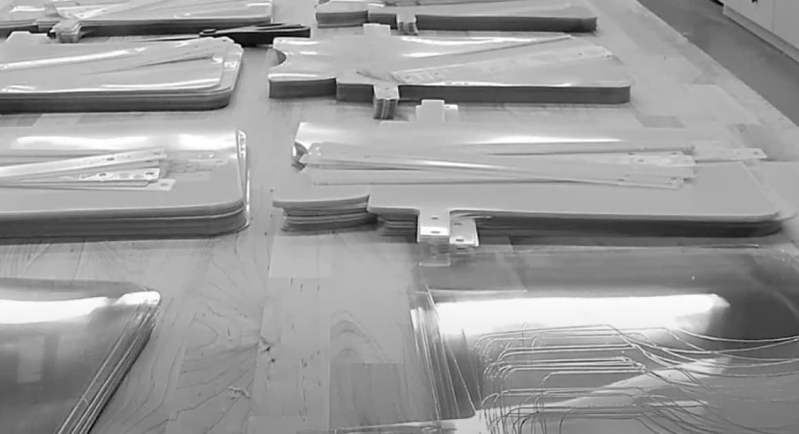 assorted plexiglass ready to be assembled