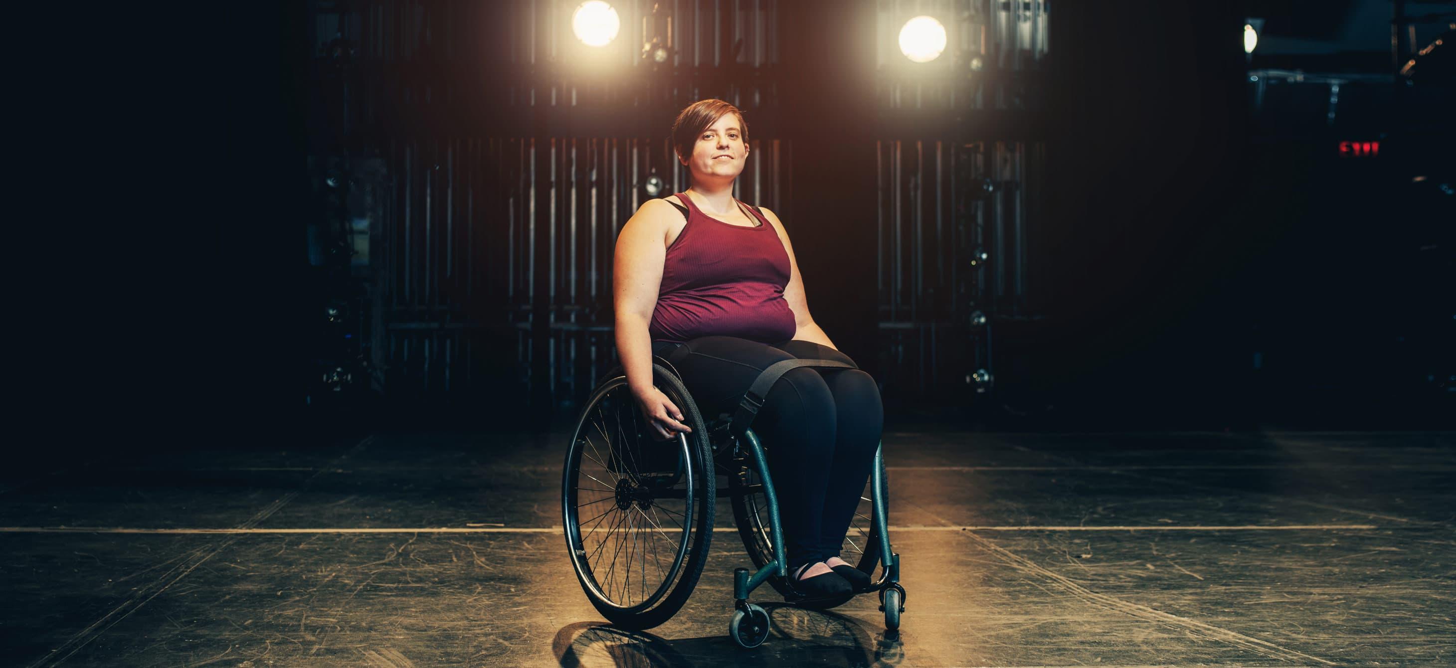 Wheelchair dancer and performance art critic Shay Erlich