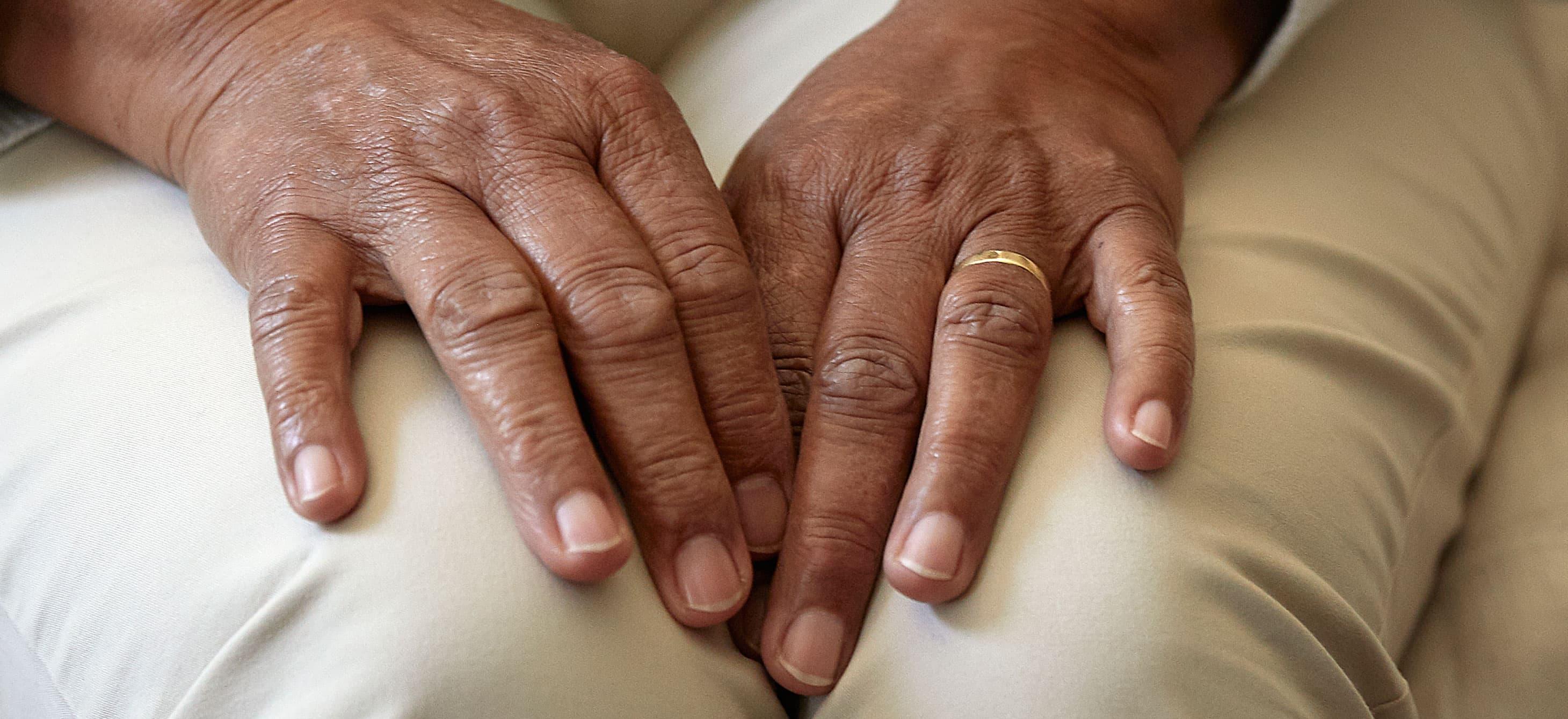 dark skinned hands