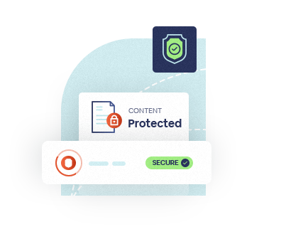Content secure and protected icon