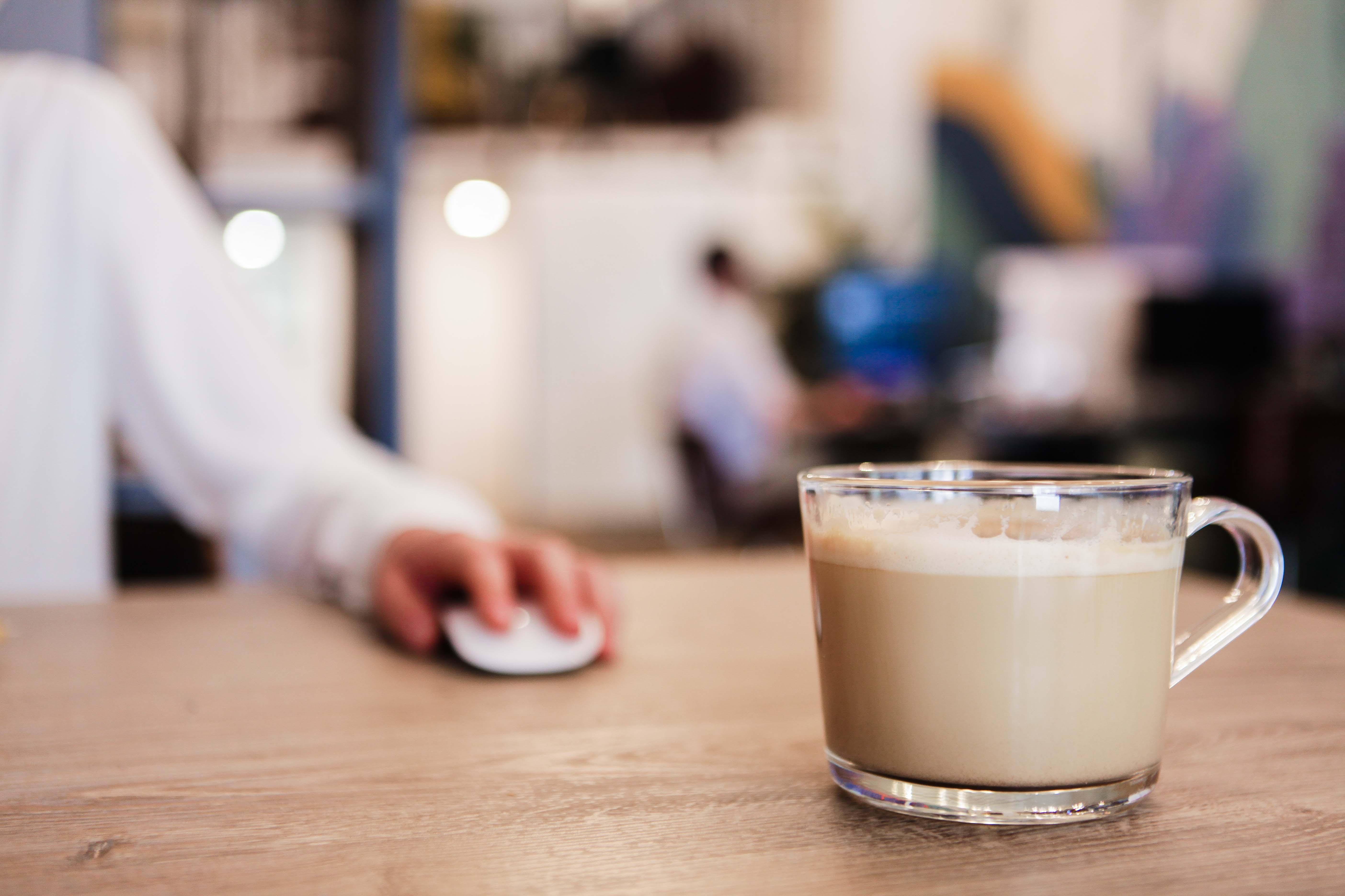 Coffee mug with an espresso in it