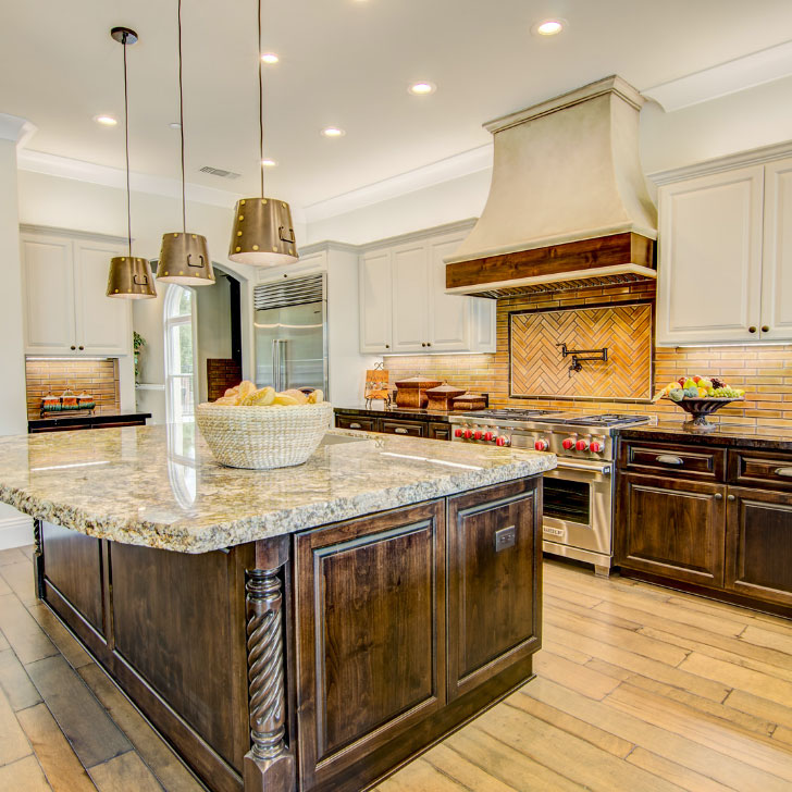 Kitchen in a custom-built home