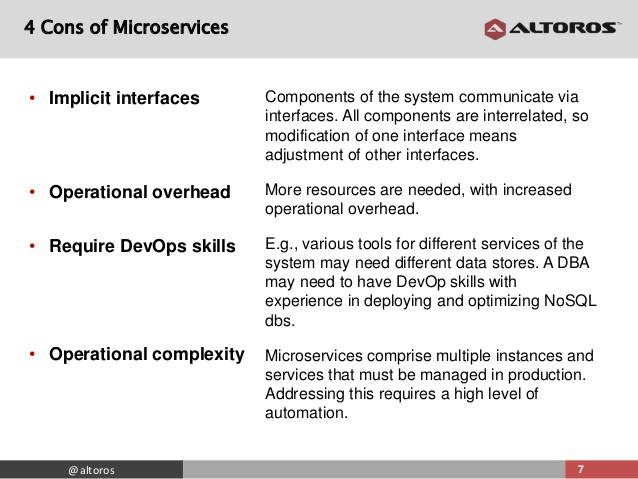 Cons of Microservices