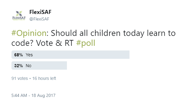 should all kids code? poll