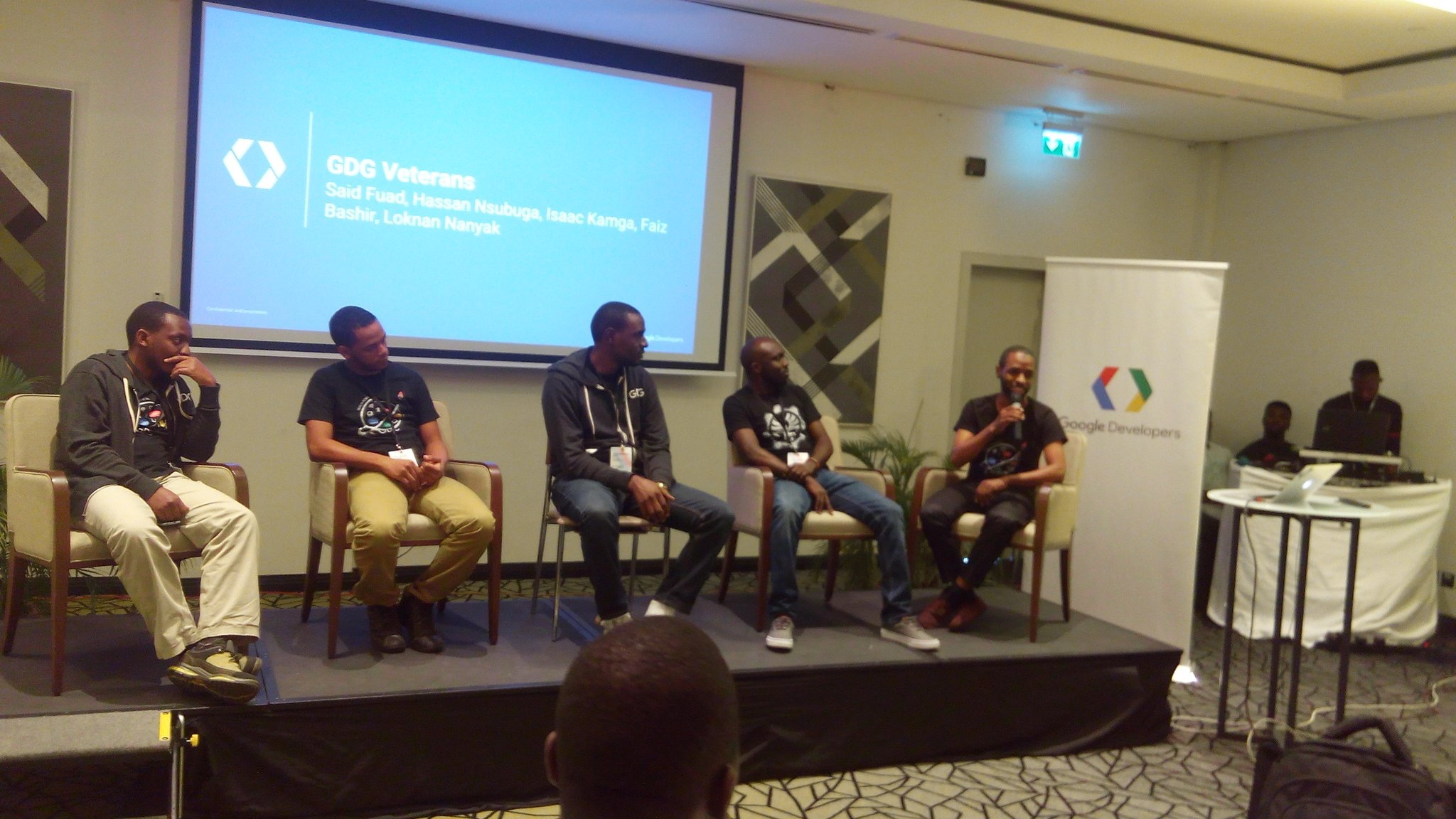 GDG Summit Lagos - FlexiSAF CEO & GDG Veterans on stage