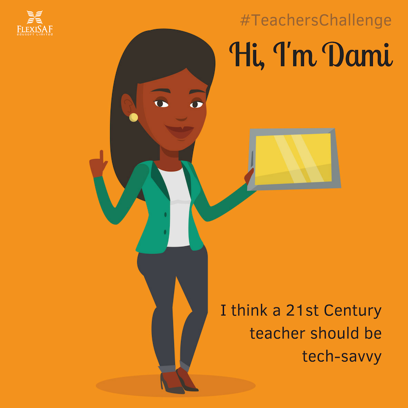 Dami is a tech-savvy teacher
