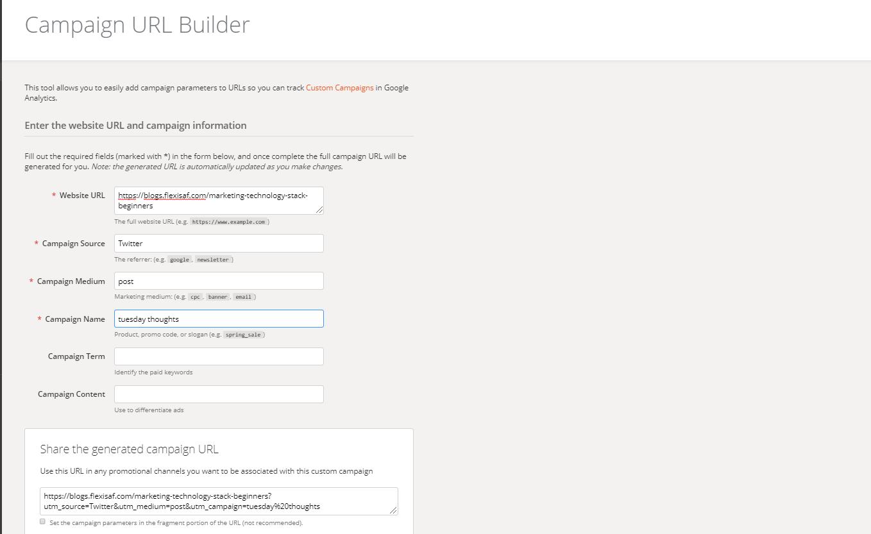 beginners marketing tools - google url builder
