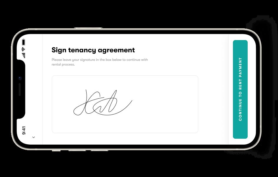 Sign tenancy agreement on Halo.rent app