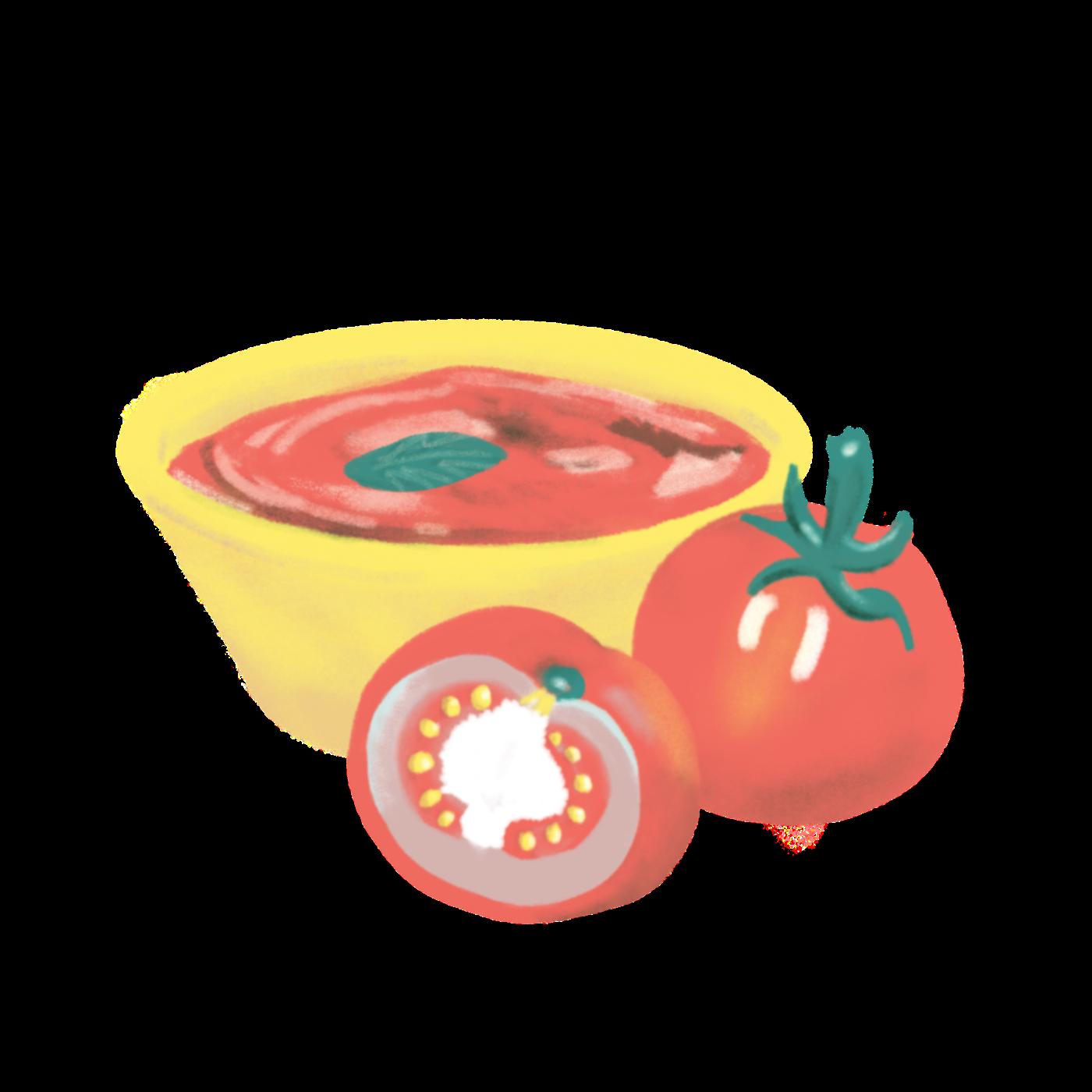 Tomato Sauce Illustration