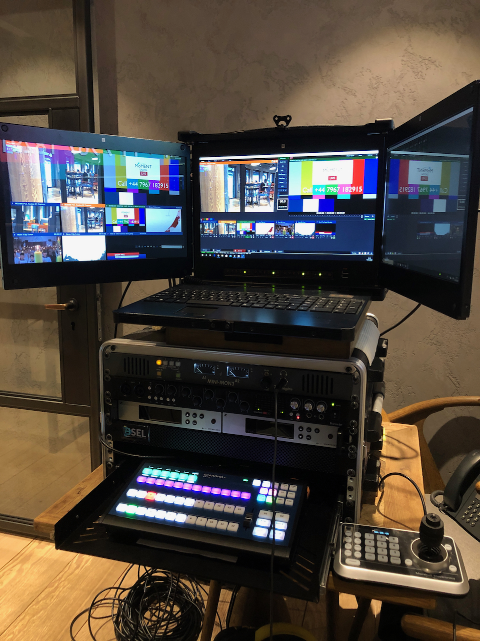 Professional live video production