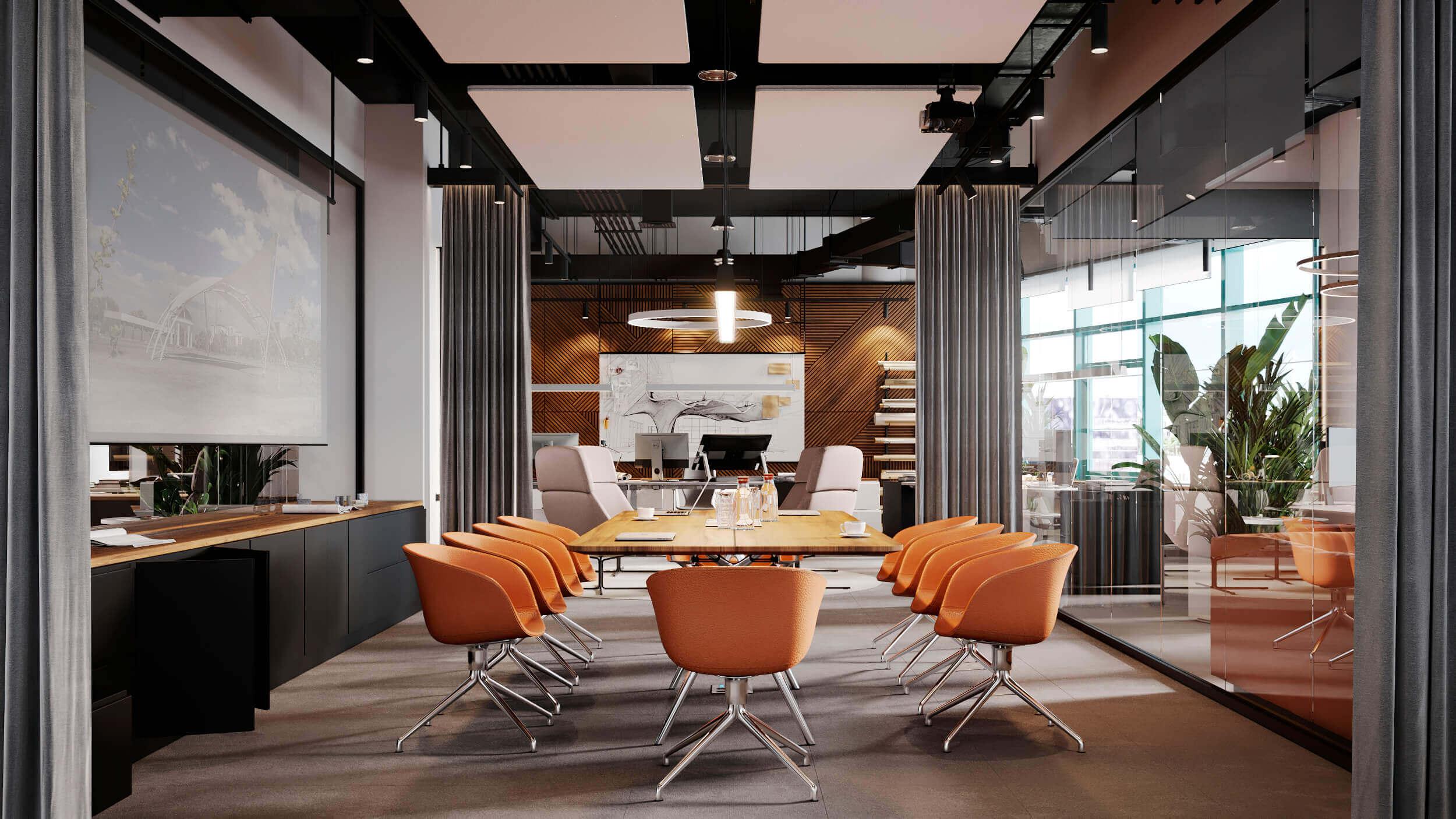 Bürogebäude in 3D dargestellt