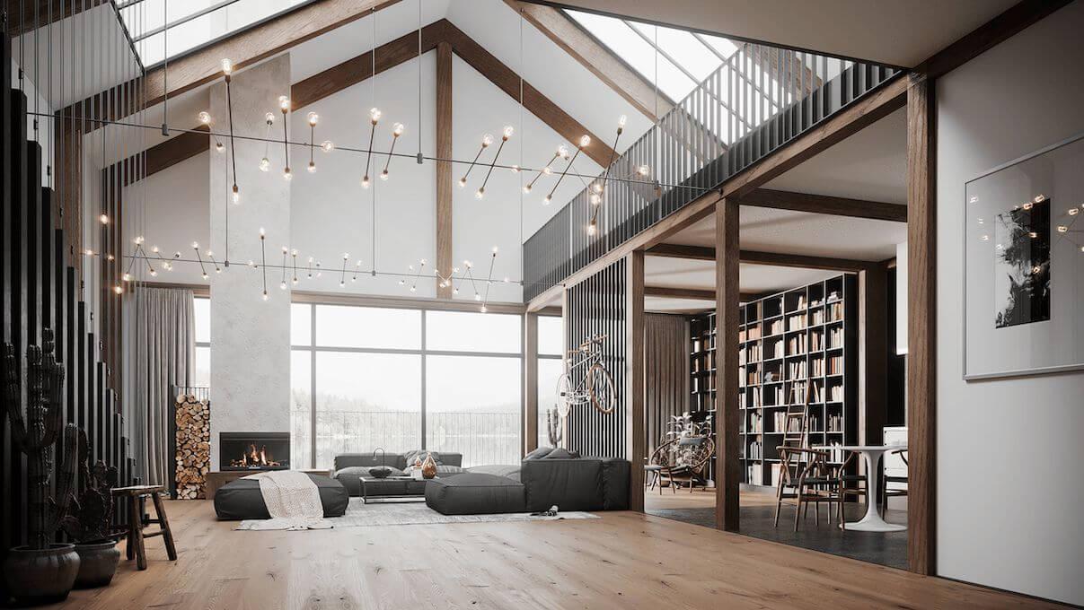 Interiordesign in 3D Rendering
