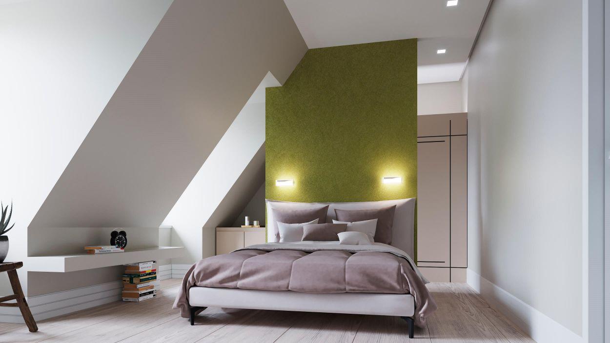 Hochauflösendes 3D Schlafzimmer