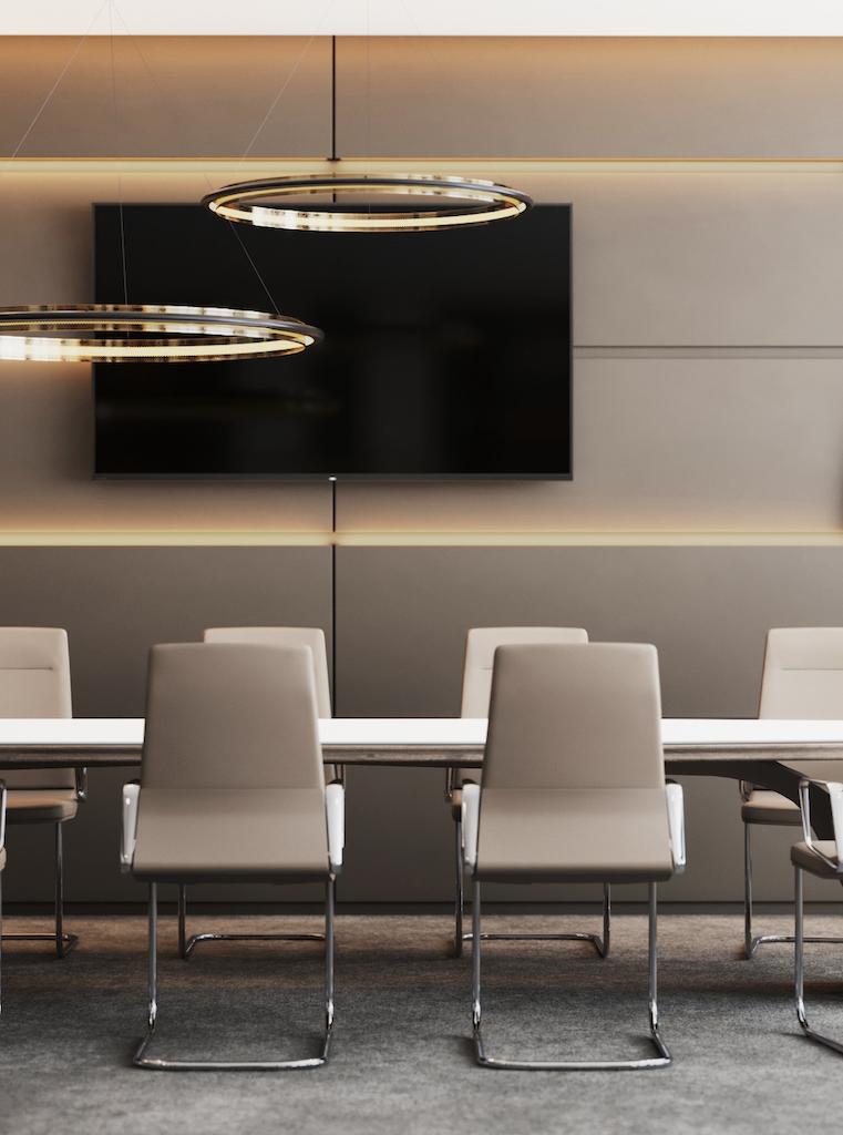 Lichtrendering und als Motiv ein Office