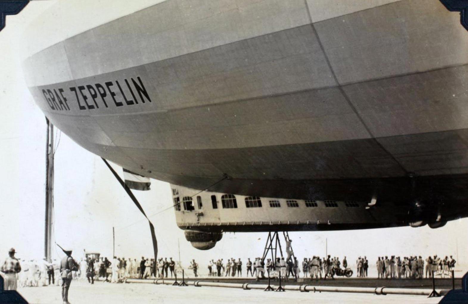 A zeppelin from the First World War.