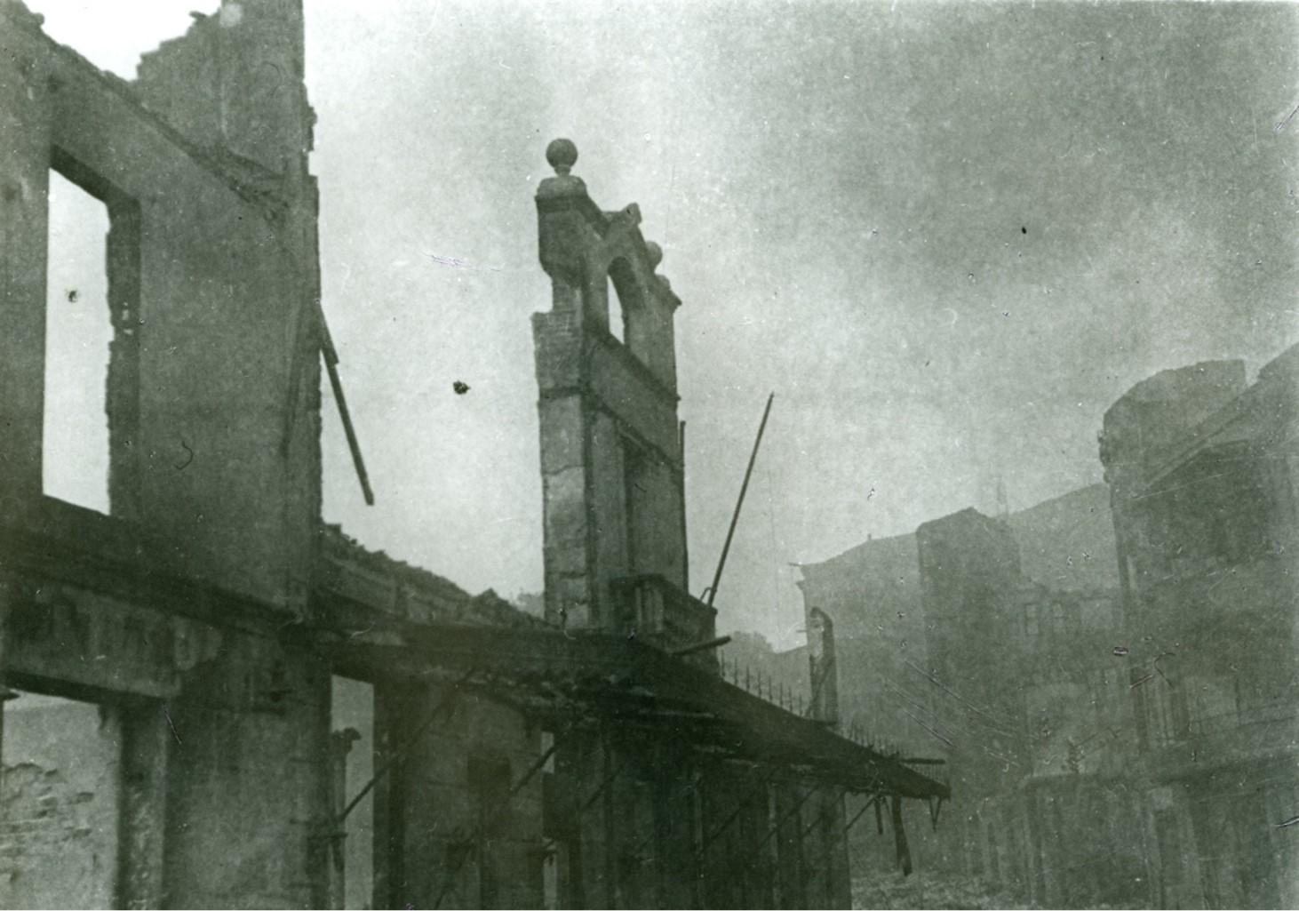 A destroyed building in Guernica, Spain.