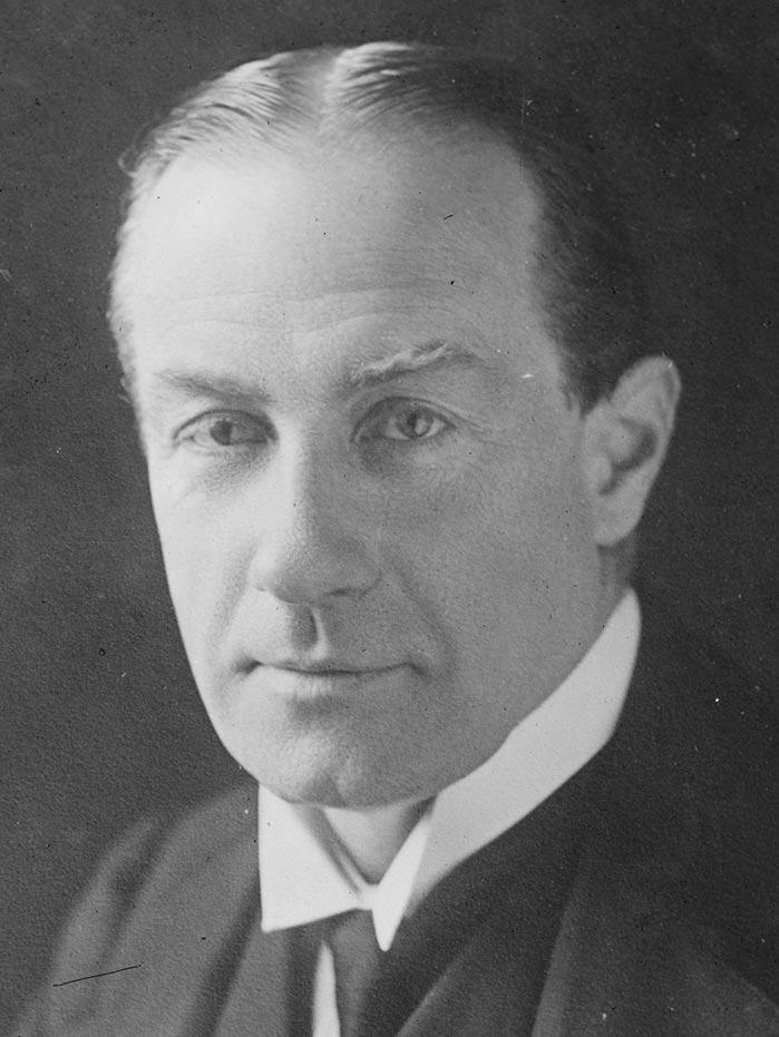 A photograph of Stanley Baldwin.
