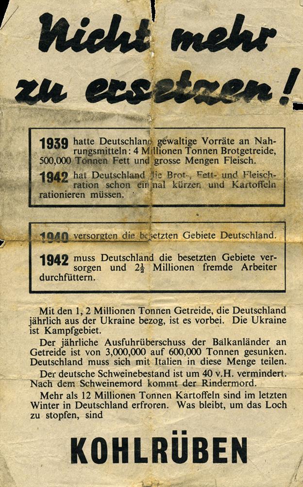 A german propaganda flyer from the war.