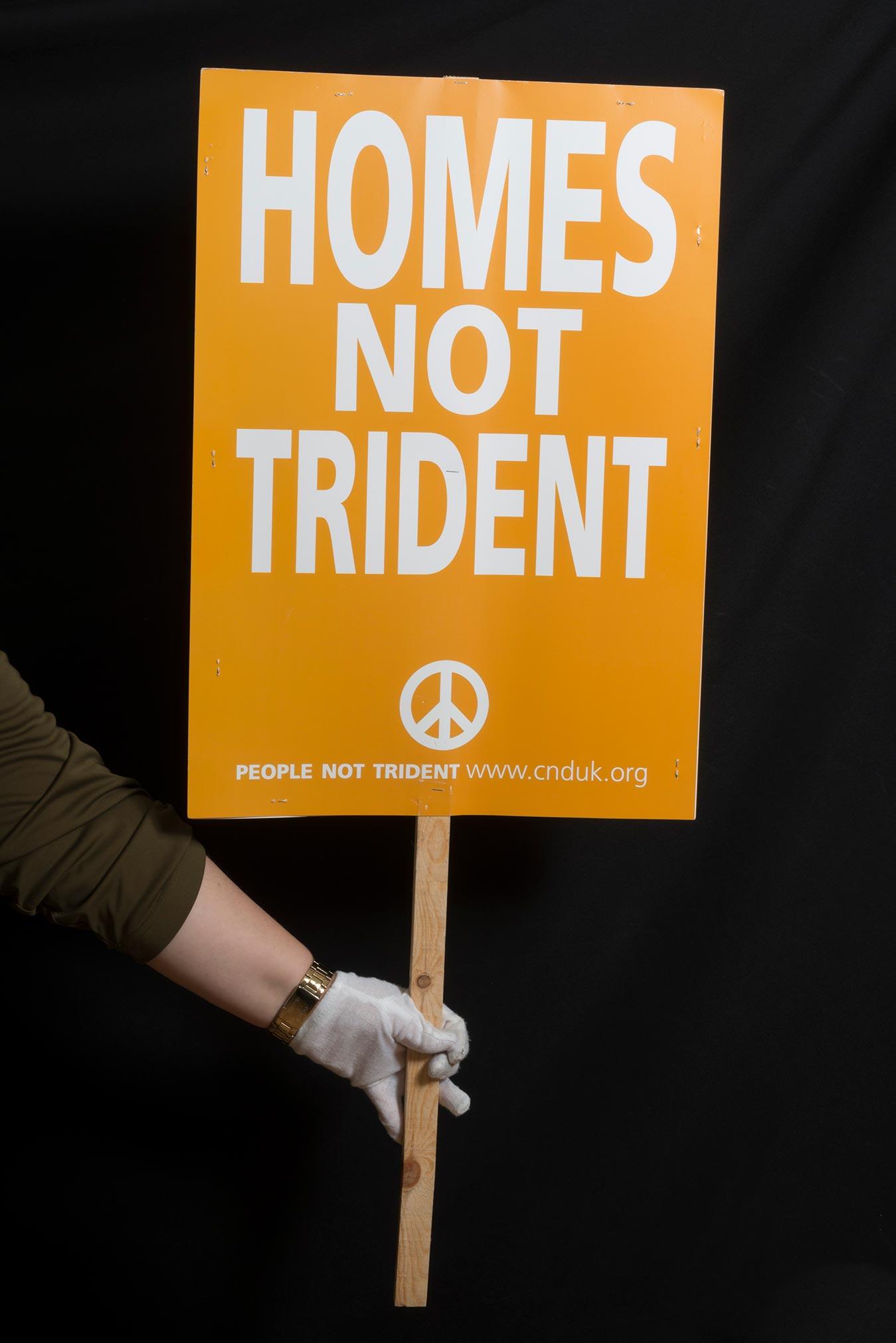 A CND placard.