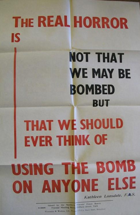 An anti-bombing poster.