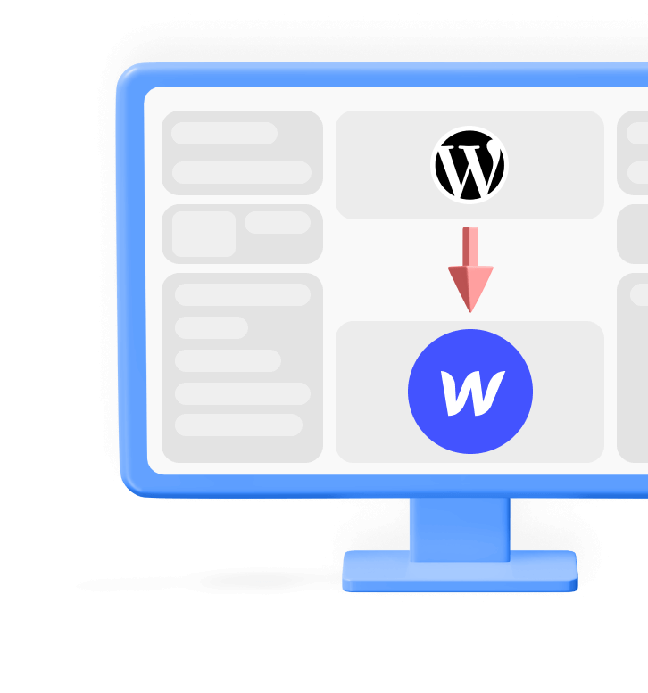 Wordpress to Webflow migration without losing traffic illustration