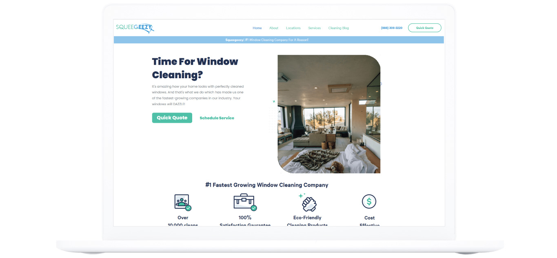 squeegeezy web design