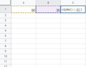 Ejemplo de uso de hoja de cálculo
