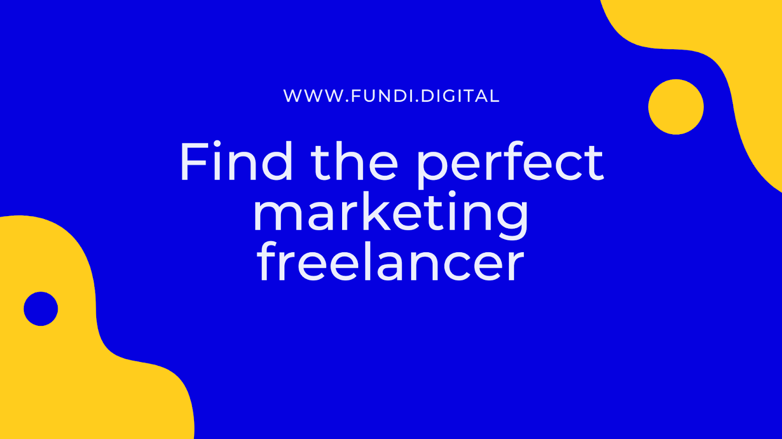 Find the perfect marketing freelancer