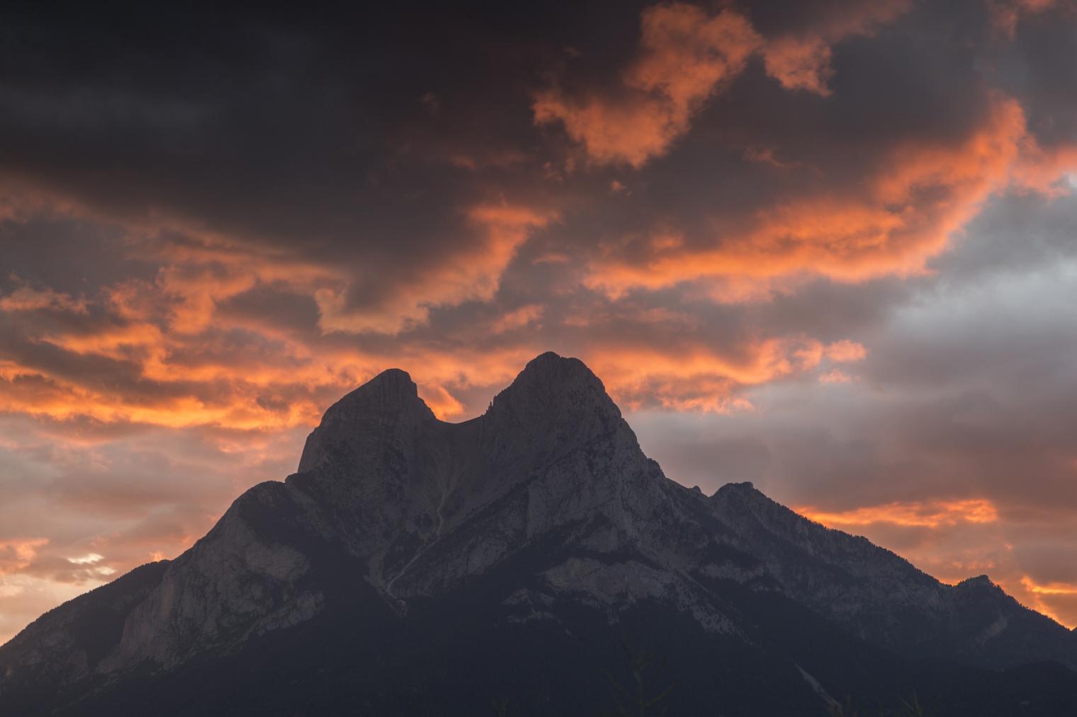 Cima de una montaña del Cadí