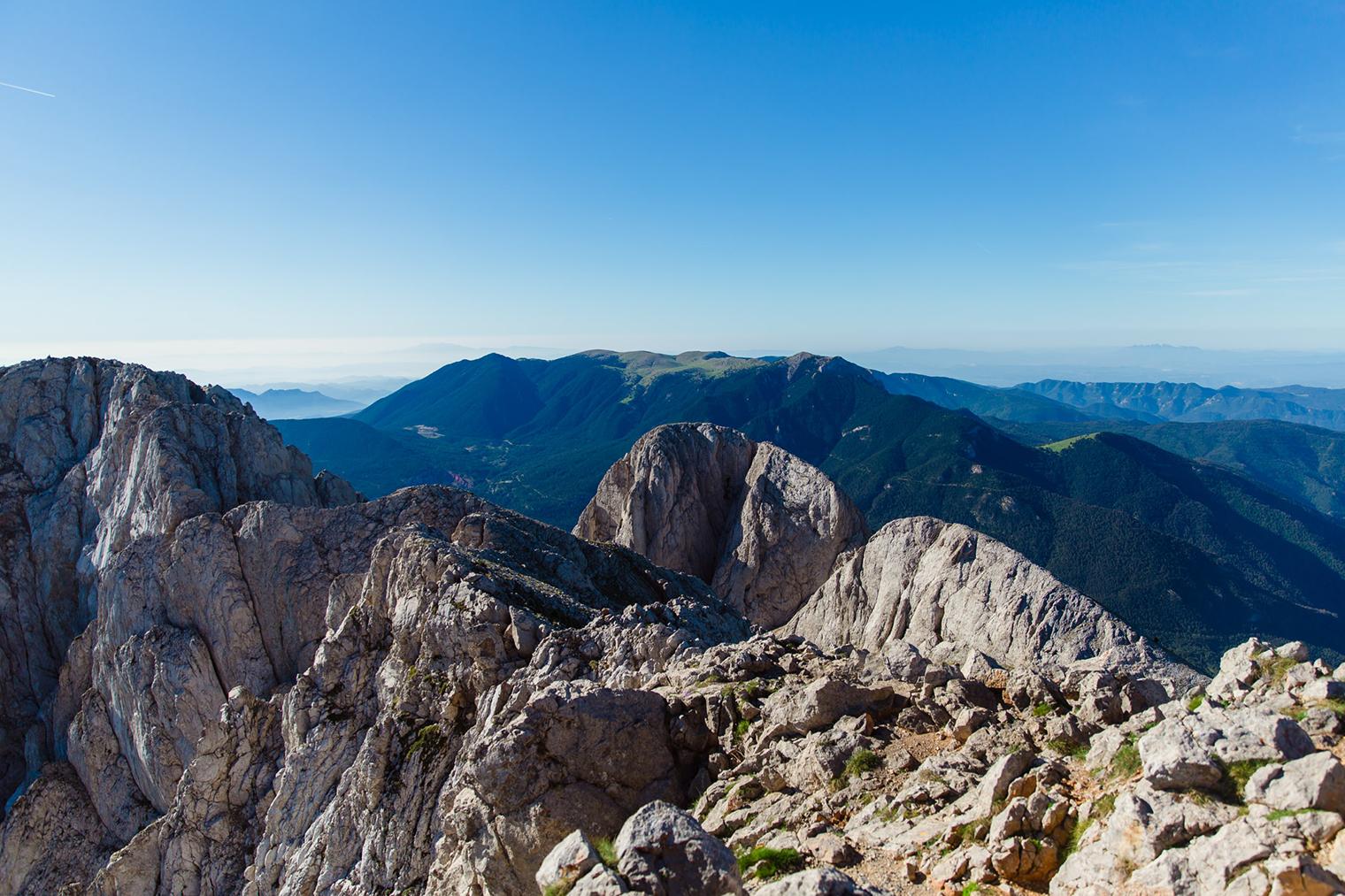Vistas de la Sierra del Cadí-Moixeró