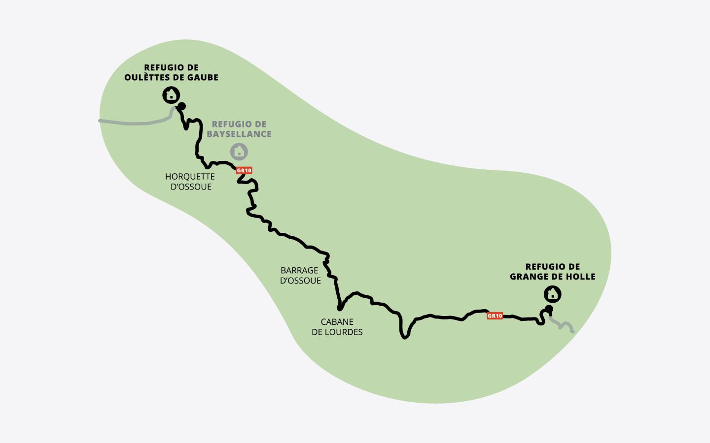 Mapa de la etapa 5 de la ruta Clásica