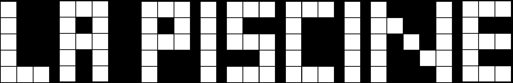 La Piscine Logo Blanc png