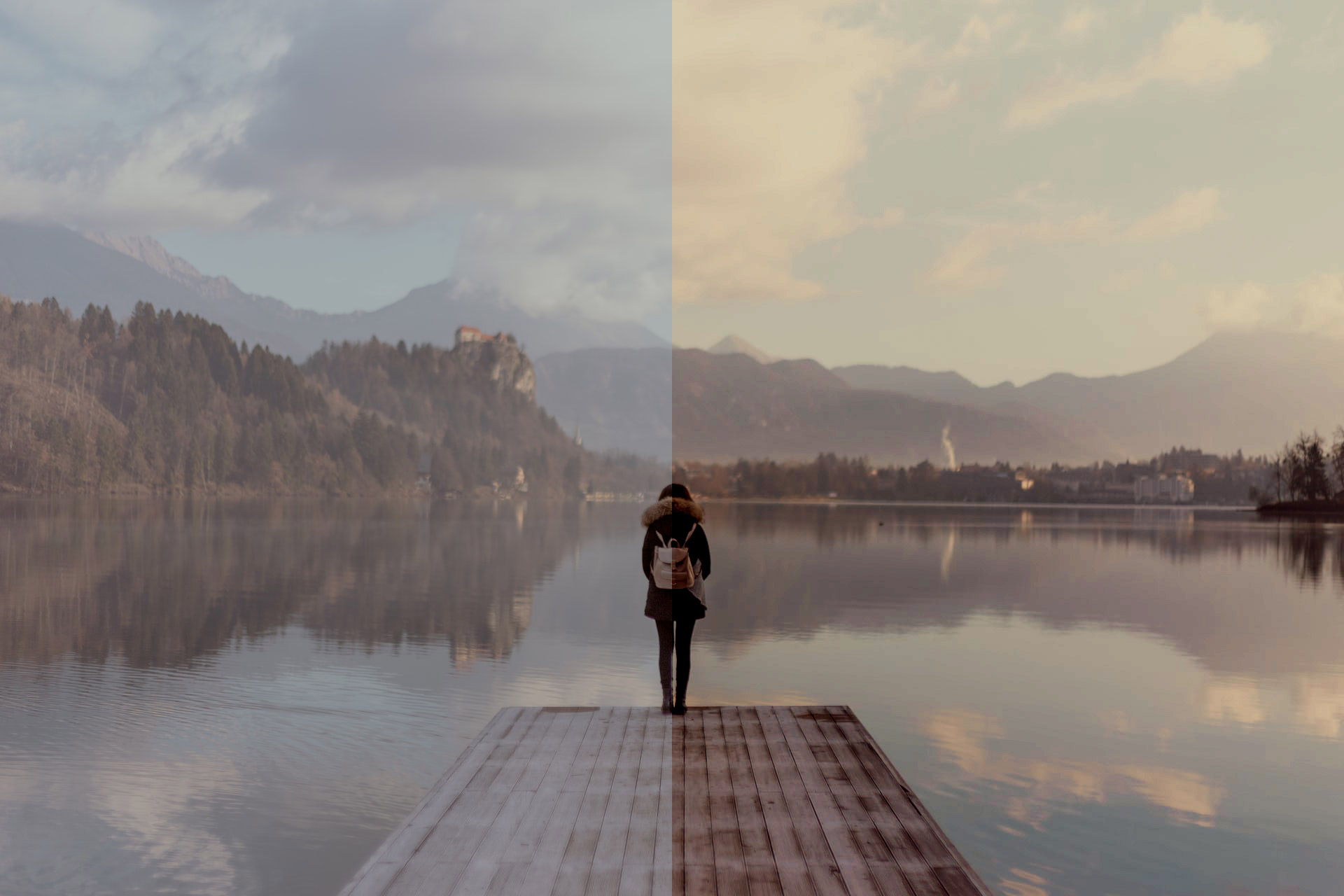 Before and After 3D LUT in Photoshop