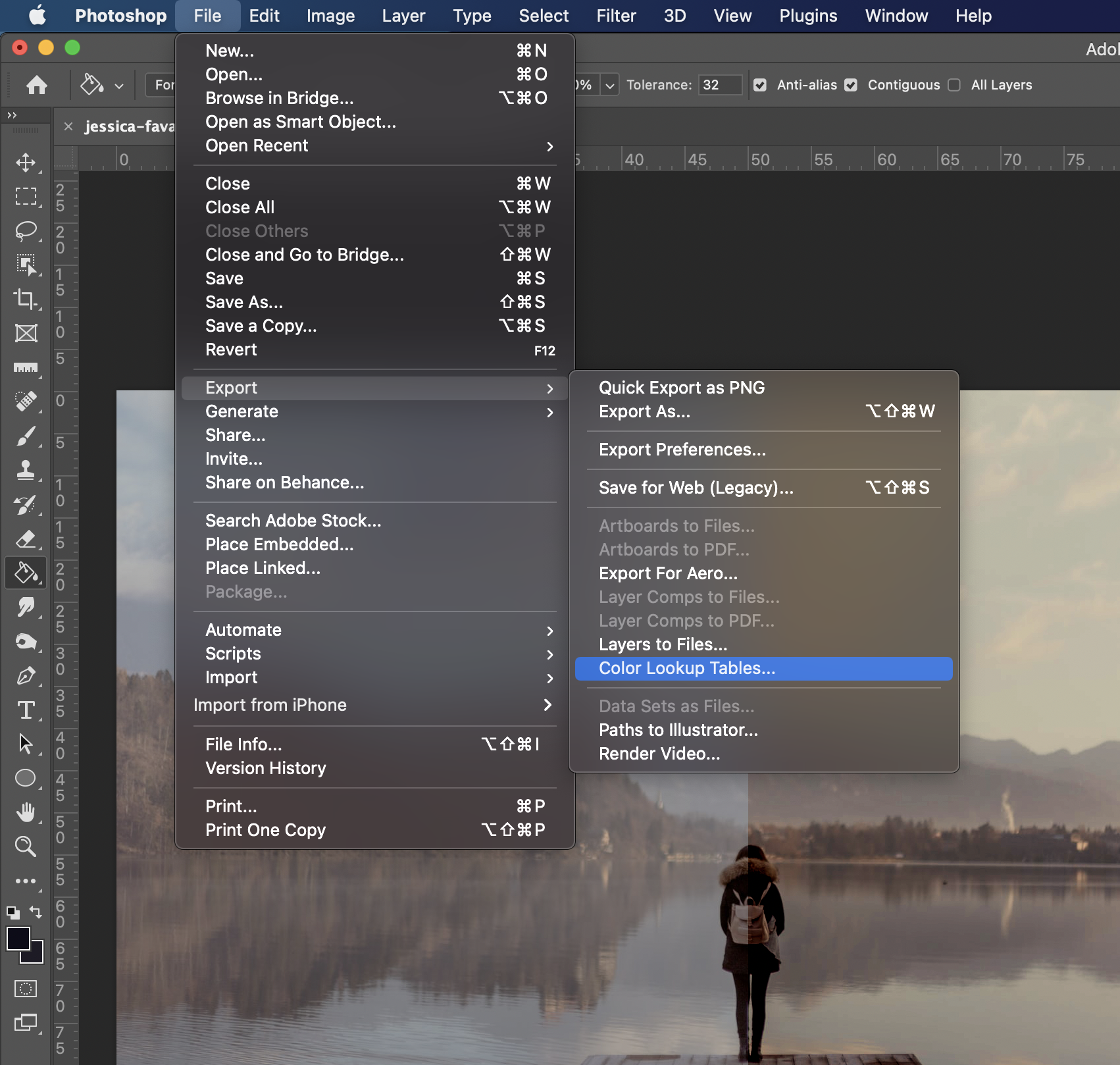 How to export a 3D LUT from Photoshop