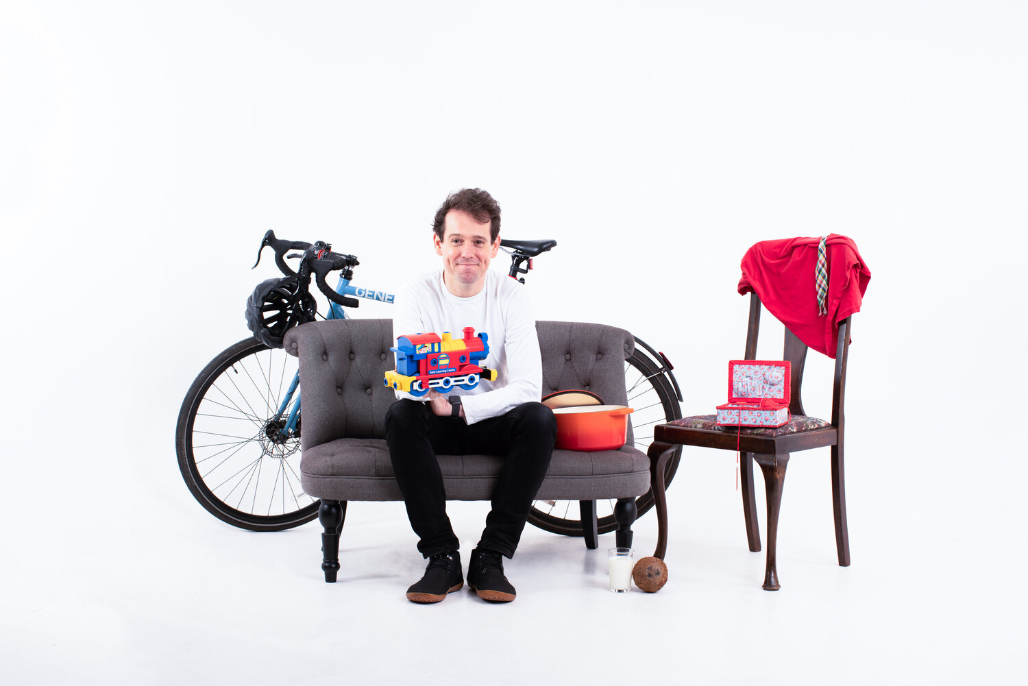 Pawprint Founder Christian Arno surrounded by furniture