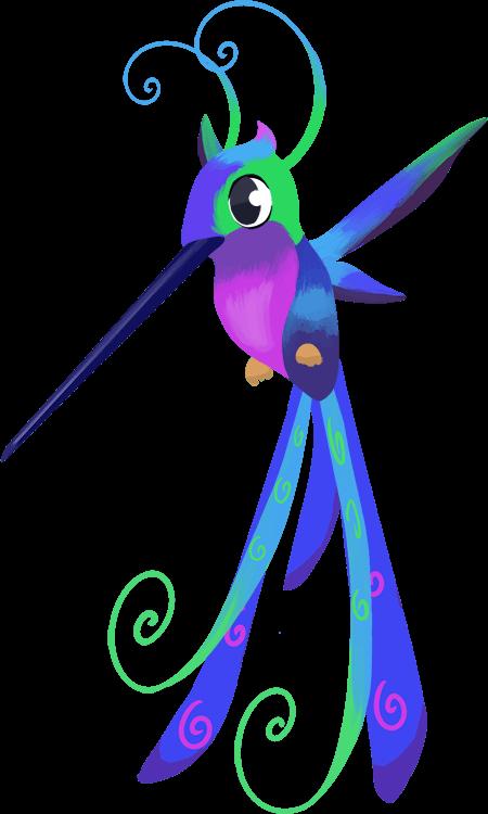 Our hummingbird helper character