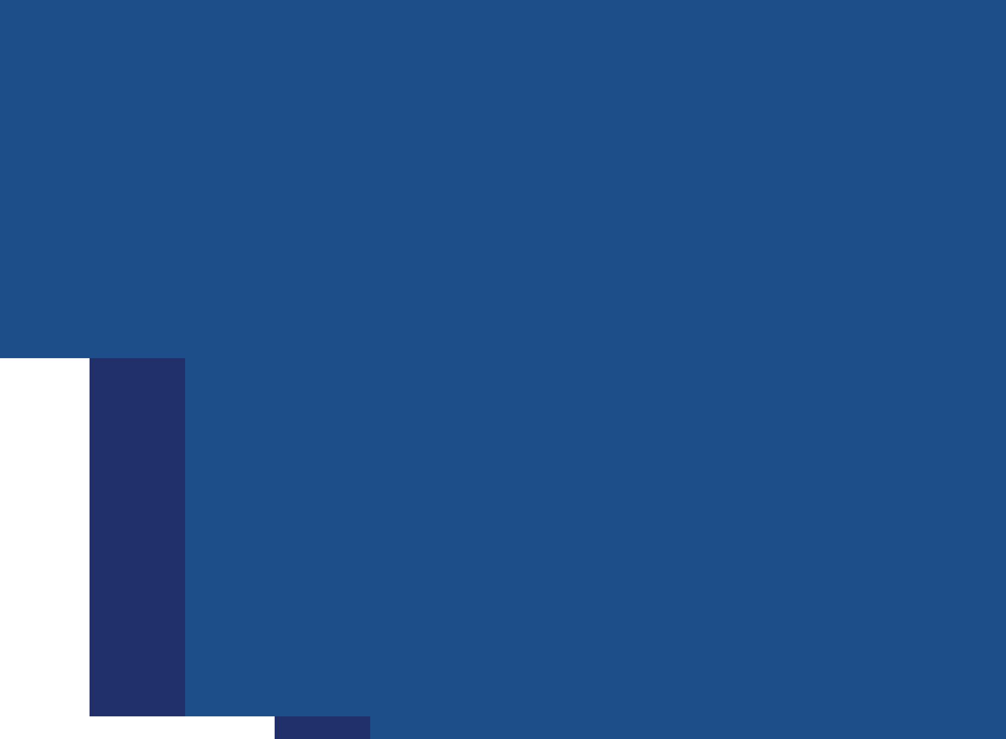 A blue background shape